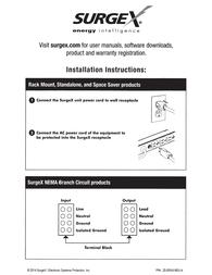 SurgeX SA-15 Owner's Manual