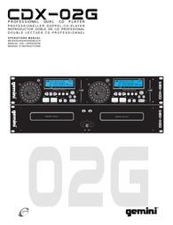 Gemini CDX-02G User Manual