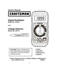 Craftsman 82140 Owner's Manual