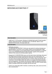 Medion AKOYA P5351 F 310017902 User Manual