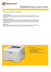 TallyGenicom 9022n 043371 Leaflet