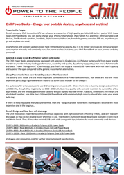 Chill Innovation PB-2900W Leaflet