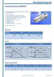 Drive System Europe DSMP420-24-104-BF 24V DC Planetary Gear Motor 63RPM 2.0NM 12428 Data Sheet