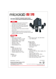 Microlab M-860 Leaflet
