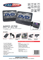 Caliber MPD278 Leaflet