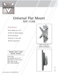 "Premier Mounts Ultra-Flat Mount for 13-30"" LCD Displays (XUF-1330L) XUF-1330L Leaflet"