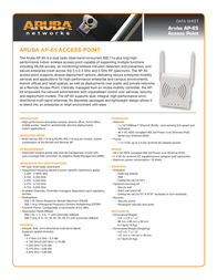 Aruba AP-65 AP-65-STOCK Data Sheet