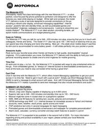 Motorola V171 Dépliant