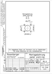 Rosenberger N connector Socket, vertical vertical 50 Ω 53K401-200N5 1 pc(s) 264738 Data Sheet