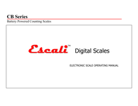 Escali E30CBB User Manual