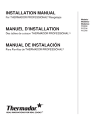 Thermador Wok PCG36 User Manual