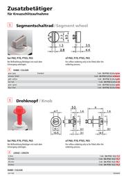 Hartmann Suitable segment switch wheel Segment wheel Red 209805 Data Sheet