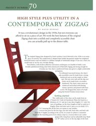 Festool Contemporary Zigzag Chair User Manual