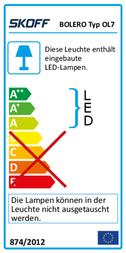 Skoff Indoor panel mounted lamp OL-OL7-D-W-1-PL-00-01 Black OL-OL7-D-W-1-PL-00-01 Data Sheet