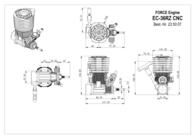 Force Engine FORCE 36 CNC COMBUSTION MOTOR 5,88 CMª EC-36RZ Data Sheet