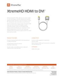 XtremeMac HDMI / DVI Cable, 2m XHD-2MHDV-02 Leaflet