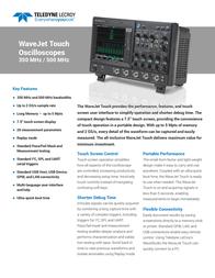 Lecroy WJ334 Touch 4-channel oscilloscope, Digital Storage oscilloscope, WJ334 Touch Data Sheet