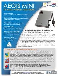 Apricorn Aegis Mini Hard Drive - 80GB A18-USB-80 Leaflet