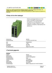 Phoenix FL SWITCH LM 4TX/2FX 2891916 User Manual