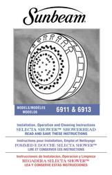 Sunbeam 6911 User Manual