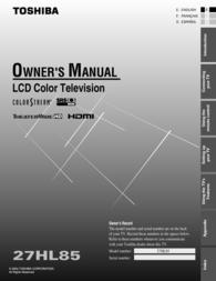 Mintek 27HL85 User Manual