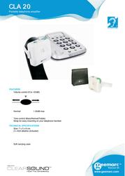Geemarc Telecom CLA20 Leaflet