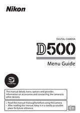 Nikon D500 User Guide