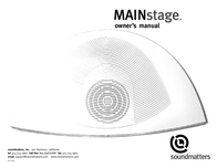 SoundMatters MAINSTAGE User Manual