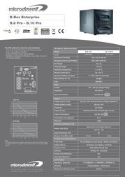 Microdowell Enterprise B.8 Pro 800VA B.Box P003800A Leaflet