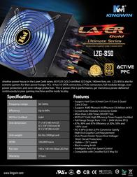 Kingwin Lazer Gold LZG-850 Leaflet