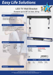 HQ LED screen wall bracket TVS-HQ-LED03B Leaflet