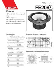 Fostex FE SIGMA-SERIES FE208 Leaflet