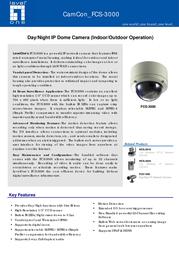 LevelOne FCS-3000 Leaflet