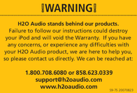 H2O Audio Cell Phone Accessories H2O Audio User Manual