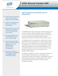 Zhone SHDSL Network Extenders 2000 SNE2000G-P-US Leaflet