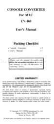 QVS Console Converter CV-160 User Manual