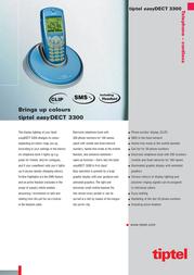 Tiptel easyDECT 3300 DECT3300 Leaflet