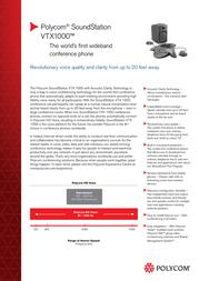 Polycom SoundStation VTX 1000 2200-07142-122 Leaflet