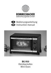 Rommelsbacher BG 950 User Manual