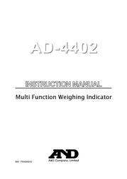 A&D PD4000243 User Manual