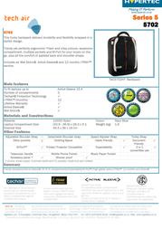 Hypertec 5702 laptop backpack TAC5702HY Leaflet