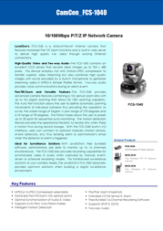 CP Technologies 10/100Mbps P/T/Z IP Network Camera FCS-1040 Leaflet