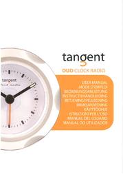 Tangent Duo Clock Radio - Red 03511395 User Manual