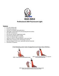 Rhinotek Work Light RHO-9053 Leaflet