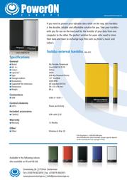 PowerOn HT-18A CASE-USB218-20GL Leaflet