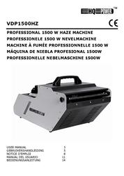 HQ Power Professional haze machine 1500W DMX VDP1500HZ User Manual