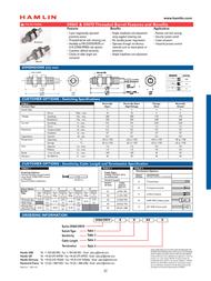 Hamlin 59065-3-T-02-A 59070-3-T-02-A Data Sheet