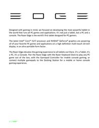 Razer Edge (2013) Owner's Manual