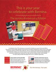 Bernina aurora Embroidery Machine Leaflet