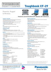 Panasonic CD-R/RW for CF-29 CF-VDR291U Leaflet